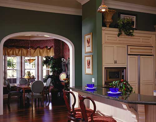 View of breakfast nook from the kitchen