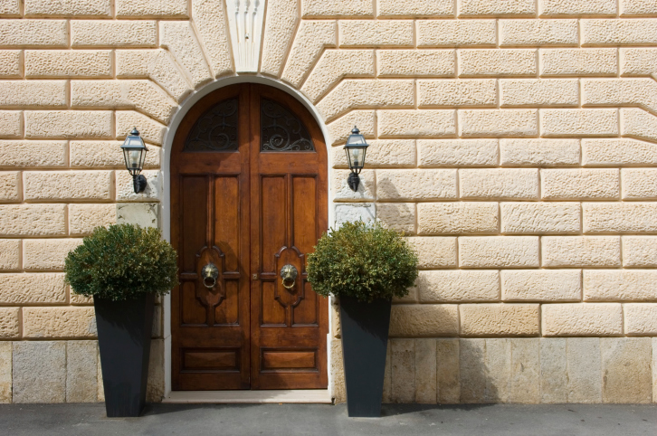 exterior door designs for home. double wood door with arched top exterior designs for home