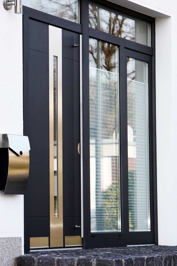 Contemporary Front Glass Door
