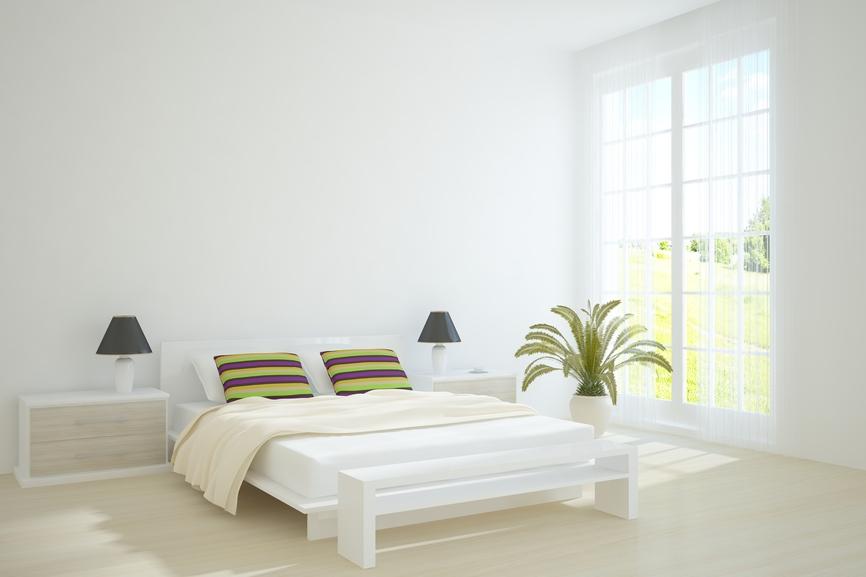 Florida white bedroom