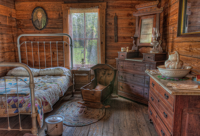 Extremely rustic bedroom
