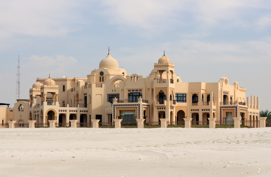 Massive beach villa in Dubai