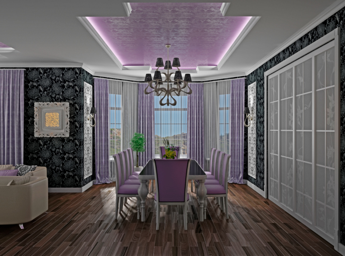 31 luxury dining room designs and pictures you can easily for Pastel dining room ideas