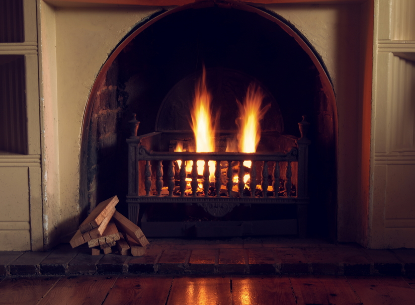 Oval fireplace