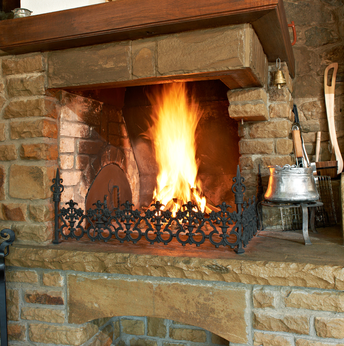 Traditional Bulgarian fireplace