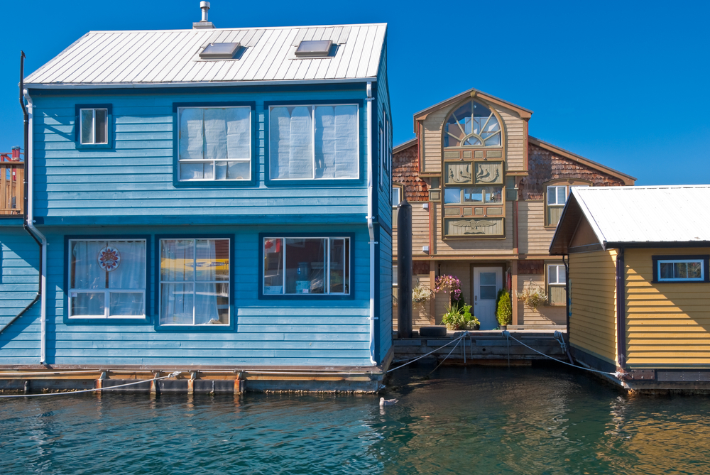Floating houses in Victoria, British Columbia