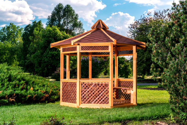 14 Cedar Wood Gazebo Designs Octagon Rectangle Hexagon And Oval Styles