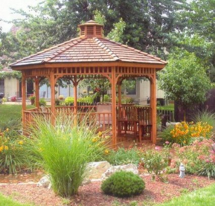 Cedar Wood Gazebo Designs together with Arcadia Avenue Batik Block Of The Month Kit in addition Crown Molding likewise Outdoor Bird Houses And Feeders in addition 3d House Floor Plans Shipping Container Home. on hexagon house kit
