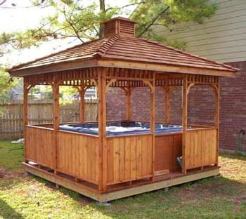Hot Tub Pergola This Picture Is Related With Outdoor Ideas And Design You May Go For Entertainment System In The To Enhance