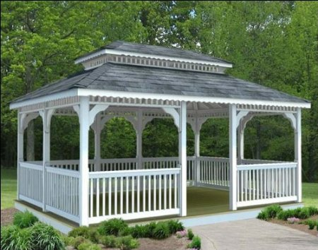 Hard Top Gazebo with Tiered Roof