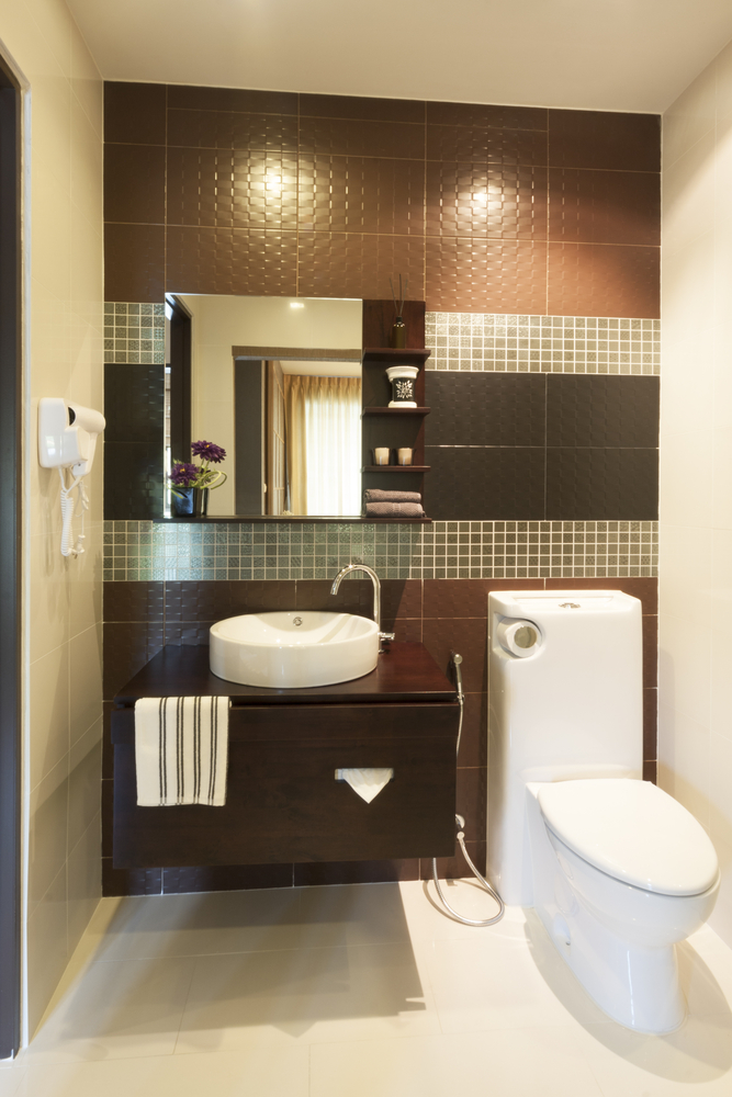 28 half bathroom designs some are cleverly designed - Small half bathroom tile ideas ...