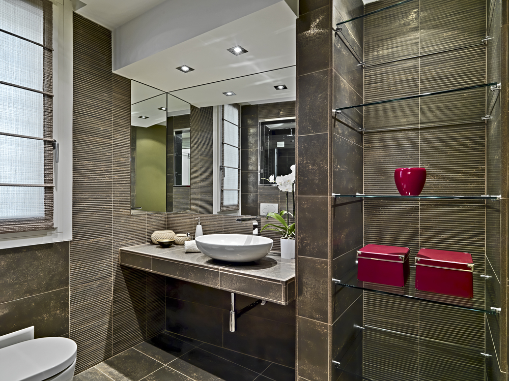 Half Bathroom Decorating Ideas: Some Are Cleverly Designed