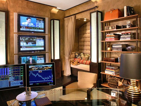 150 luxury modern home office design ideas pictures for Bureau high tech