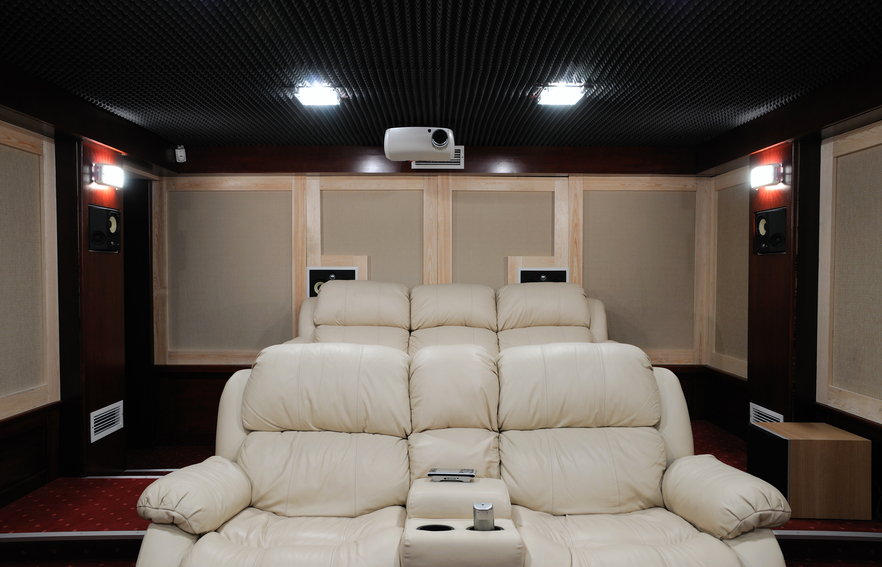 Ultra plush seating home theater