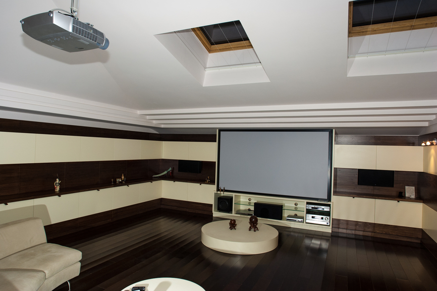 Cool modern home theater