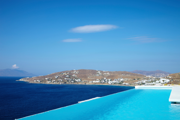 Seaside infinity pool