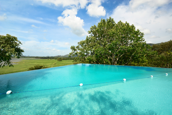 Infinity pool in nature
