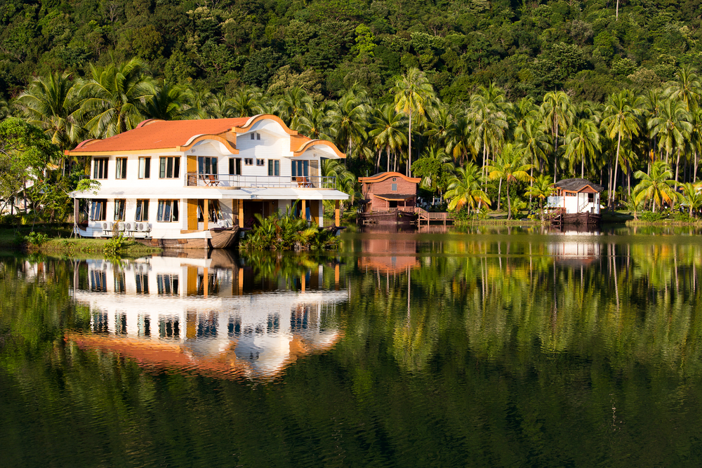 Large tropical style home on a lake in Thailand