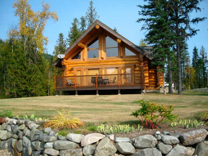 33 stunning log home designs photographs for A frame log house