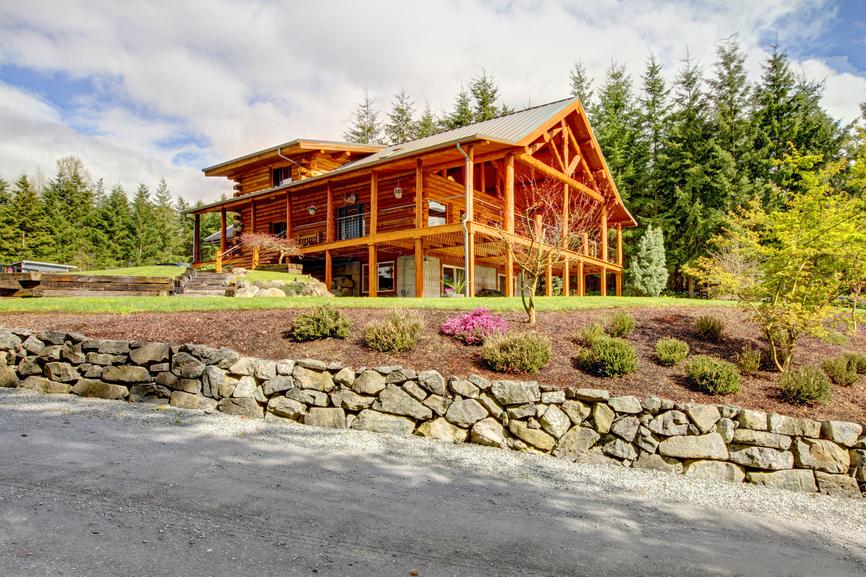 Stunning Log Home Designs Photographs - Modern log cabin homes