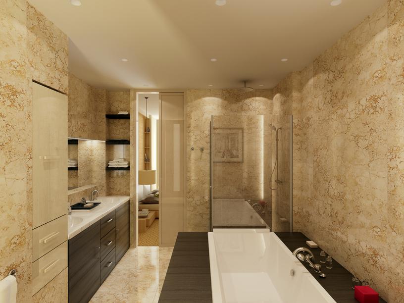 Brown Bathroom Earthy Brown Bathroom Tiles Look Awesome With
