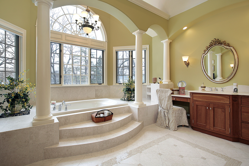 127 luxury custom bathroom designs for Large bathroom designs pictures