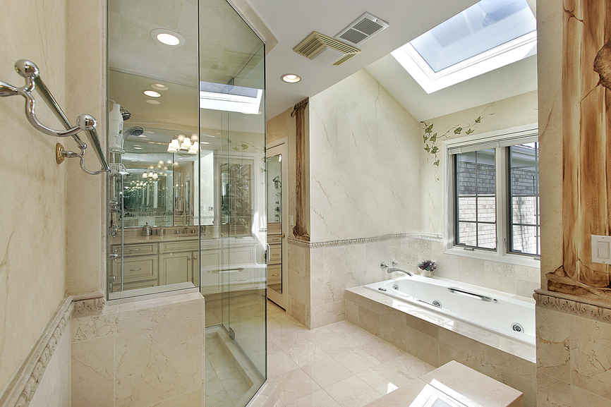 Bathroom Design Separate Tub And Shower : Luxury custom bathroom designs