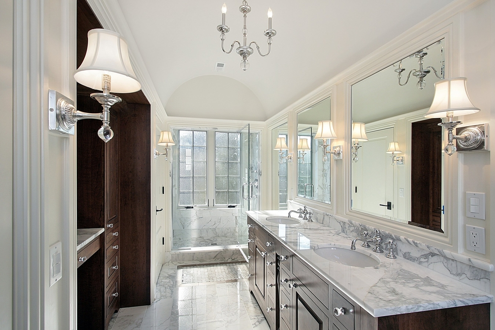 127 Luxury Custom Bathroom Designs – Bathroom with Dark Cabinets