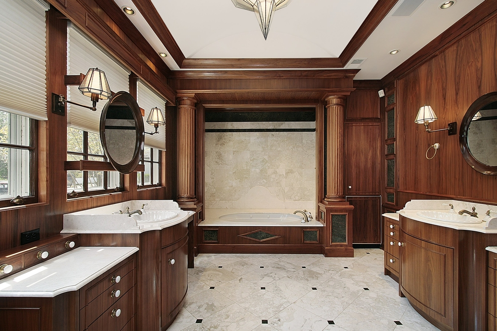 127 luxury custom bathroom designs for Dark wood bathroom designs