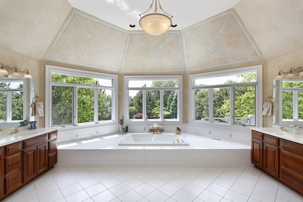 127 luxury bathroom designs part 2 for Discount bay windows