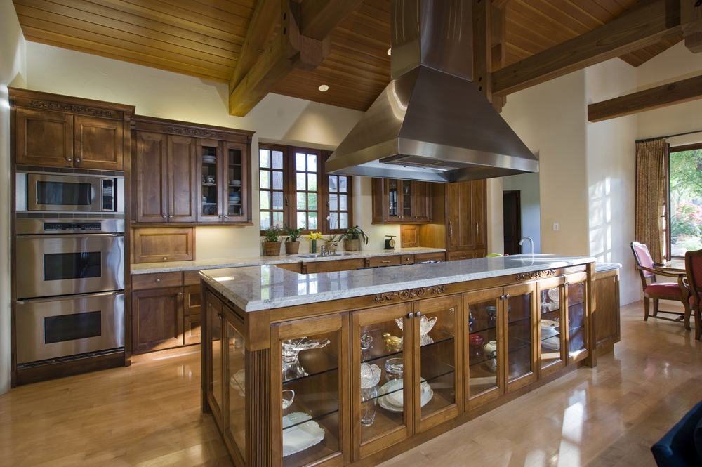 124 pure luxury kitchen designs part 3 for Wood floor and ceiling