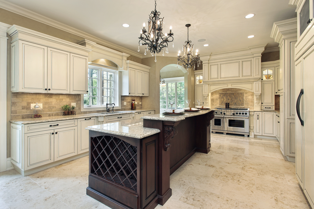 124 pure luxury kitchen designs part 2 - White kitchen with dark island ...