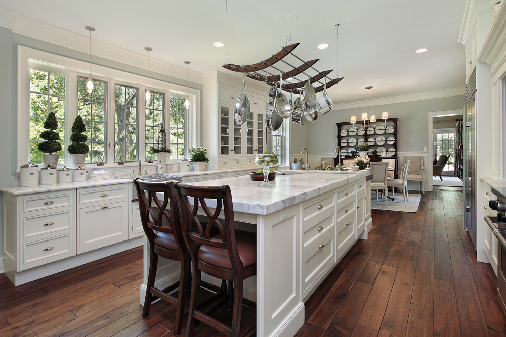 124 pure luxury kitchen designs part 2 for White kitchen cabinets with hardwood floors