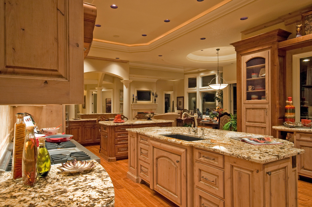 Luxury Kitchen With 2 Islands One Island Has A Sink And The Second Is