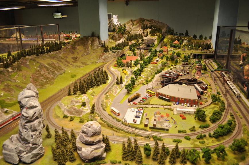 Incredible model train landscape