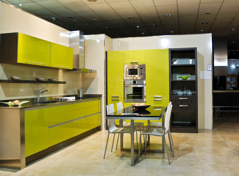 [+] Modern Kitchen Design Yellow And Black