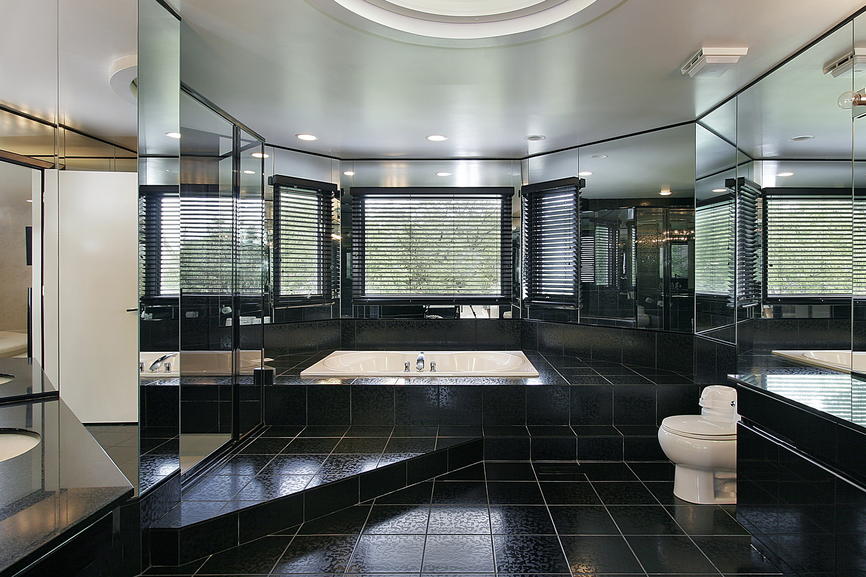 Black Luxury Modern Bathroom simple black luxury modern bathroom d throughout inspiration
