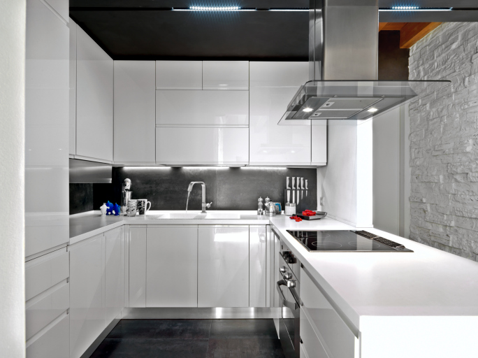 Modern White And Black Kitchen 104 modern custom luxury kitchen designs (photo gallery) | home