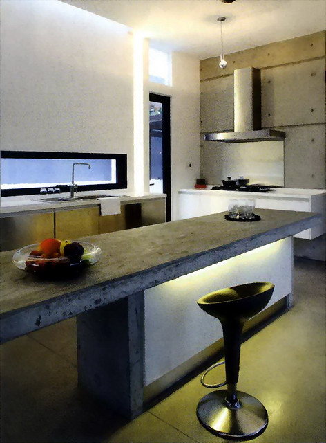 Sleek modern kitchen with fantastic lighting