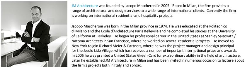 JM Architecture and Jacopo Mascheroni Bio