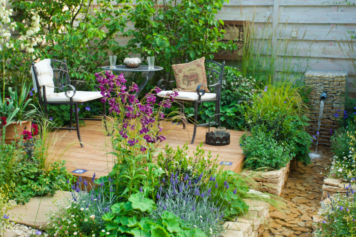 patio garden ideas | garden ideas and garden design - Rock Garden Patio Ideas