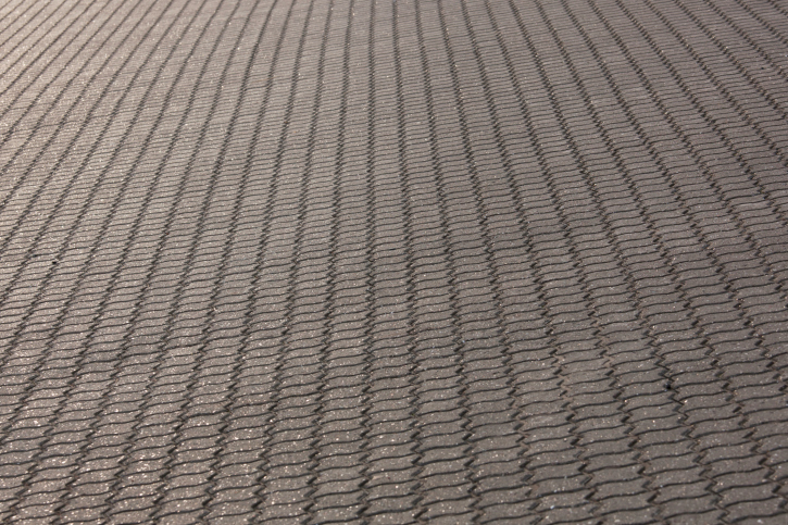 Interlocking paver brick patio
