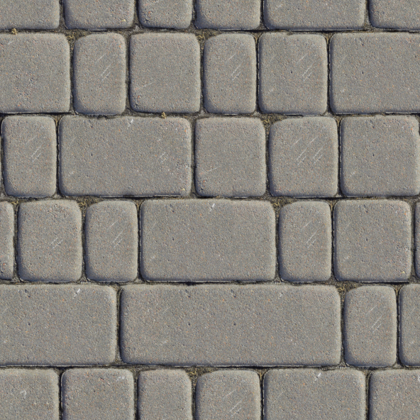 Running blue stone patio pattern