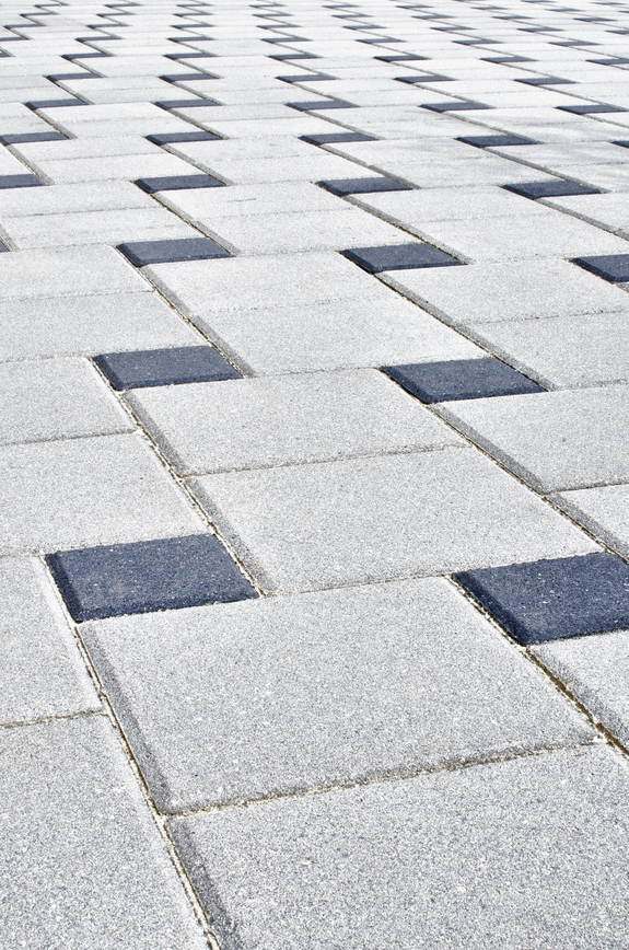 Close-up image of silverdale brick patio design