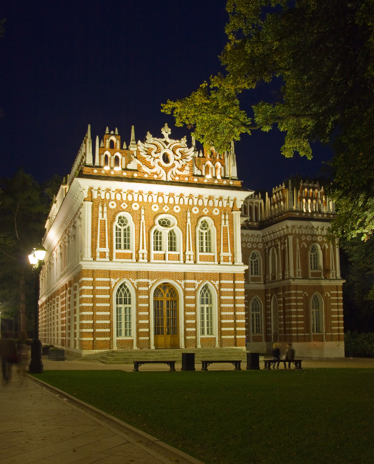 Palace in Tsaritsyno Park in Moscow. Good example of intricate and unique design