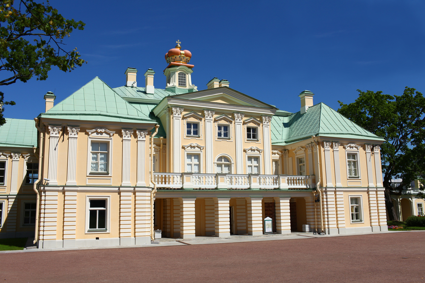 Close-up picture of Menshikov Palace in St. Petersburg