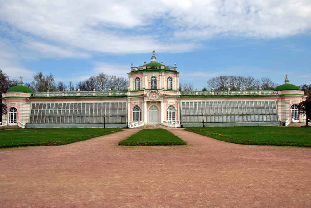 Panarama view of Russian palace
