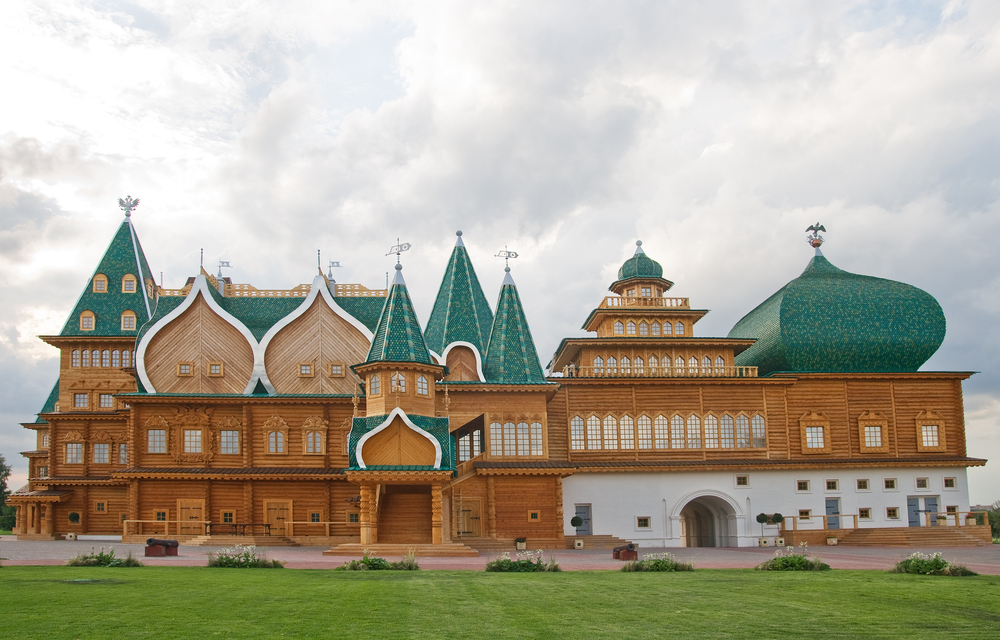 Rear view of the Wooden Palace in Russia