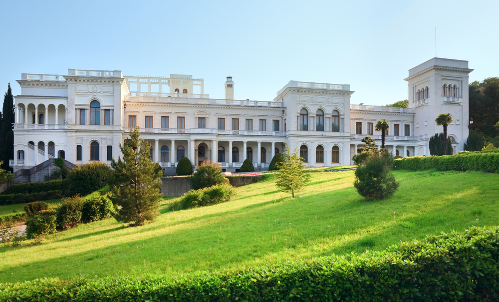 Summer palace in Livadia in Crimea
