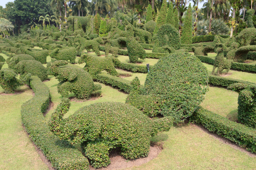 Garden With Many Topiary Animals